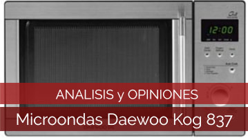 Microondas Daewoo Kog 837RS - Análisis, Comparativa y Opiniones