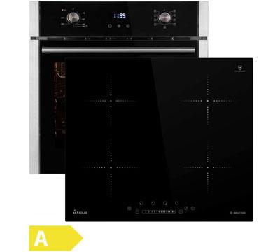 conjunto de placa vitroceramica y horno