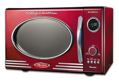 microondas rojo retro